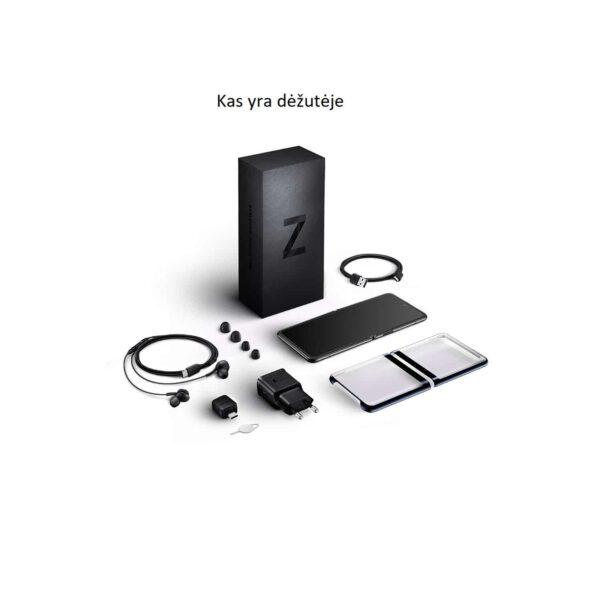 Samsung Galaxy Z Flip Veidrodinė juoda spalva9