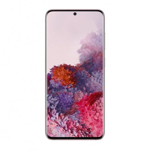 Samsung Galaxy S20 Padangių rožinė spalva