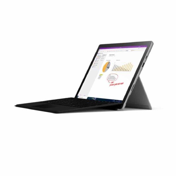 Microsoft Surface Pro 7 - 128GB, i3, 4GB (Platinum) kompiuteris + klaviatūra
