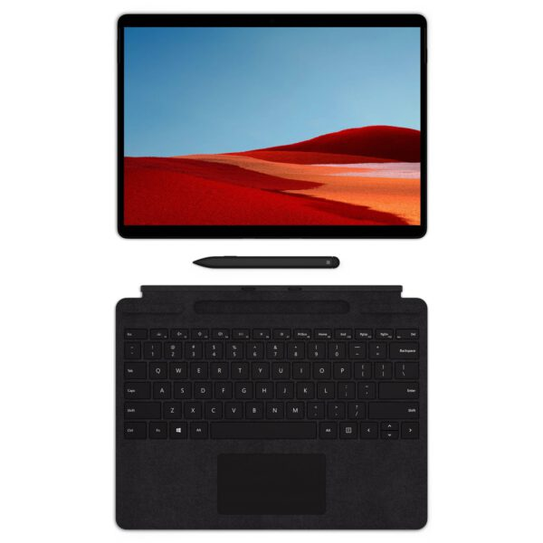 Microsoft Surface Pro X Signature Keyboard with Slim Pen - Black klaviatūra ir rašiklis