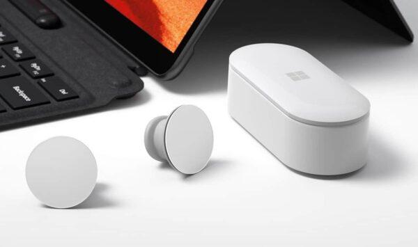 Microsoft Surface Earbuds (Glacier) belaidės ausinės9