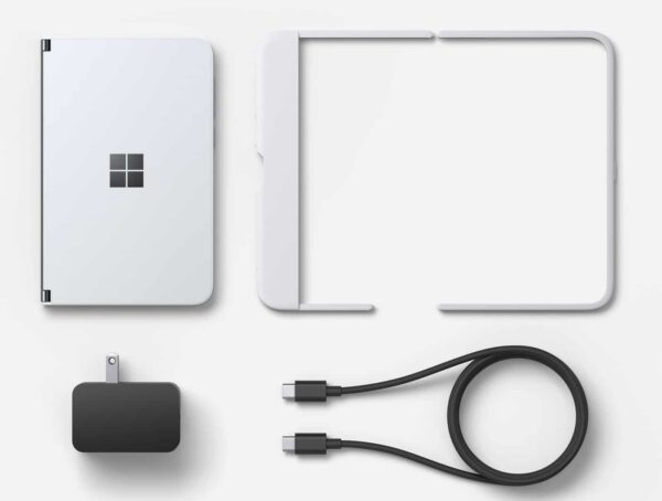 Microsoft Surface Duo sulankstomas įrenginys