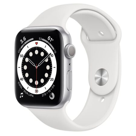 Apple Watch Series 6 44mm M00D3 Silver White išmanusis laikrodis