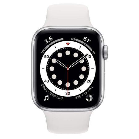 Apple Watch Series 6 44mm M00D3 Silver White išmanusis laikrodis