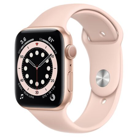 Apple Watch Series 6 44mm M00E3 Gold Pink išmanusis laikrodis
