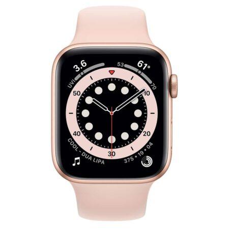 Apple Watch Series 6 44mm M00E3 Gold Pink išmanusis laikrodis