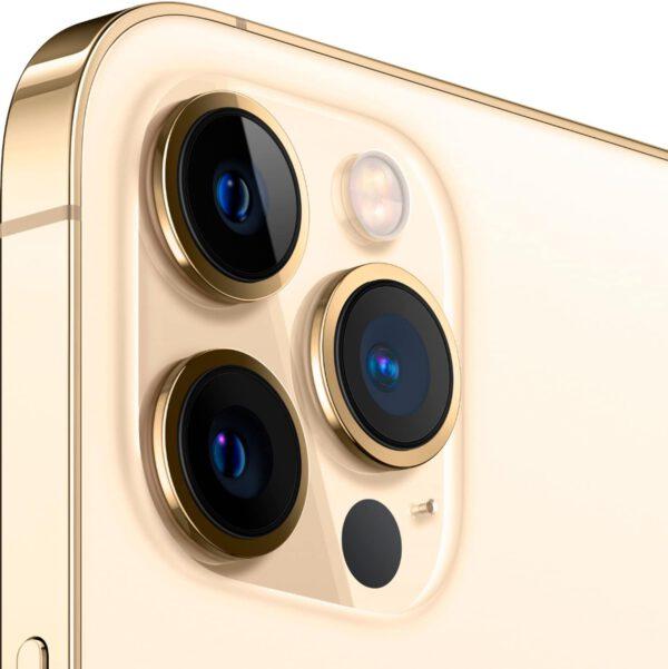 Apple iPhone 12 Pro MAX auksine spalva išmanusis telefonas dizainas