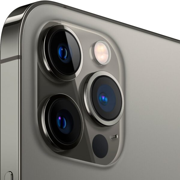Apple iPhone 12 Pro MAX grafito spalva išmanusis telefonas dizainas