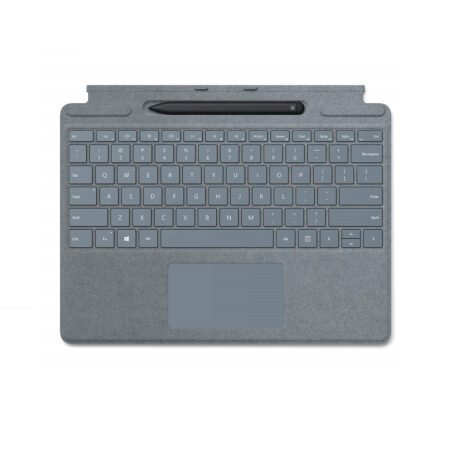 Microsoft Surface Pro X Signature Keyboard with Slim Pen - Ice Blue klaviatūra ir rašiklis