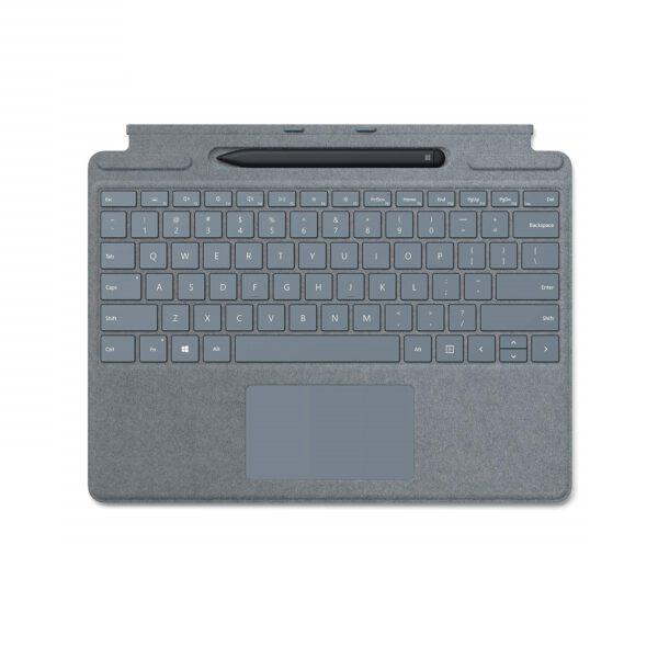 Microsoft Surface Pro X Signature Keyboard with Slim Pen - Ice Blue klaviatūra ir rašiklis