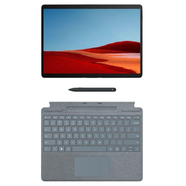 Microsoft Surface Pro X Signature Keyboard with Slim Pen - Ice Blue klaviatūra ir rašiklis komplektas