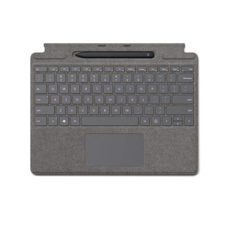 Microsoft Surface Pro X Signature Keyboard with Slim Pen - Platinum klaviatūra ir rašiklis