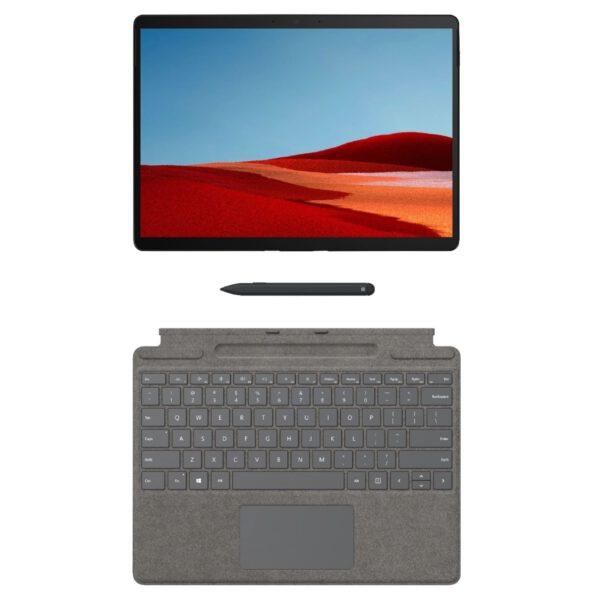 Microsoft Surface Pro X Signature Keyboard with Slim Pen - Platinum klaviatūra ir rašiklis komplektas