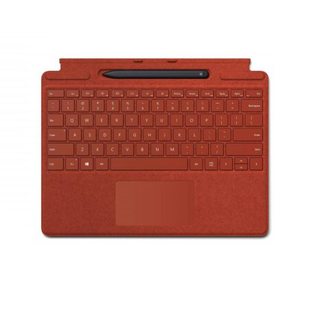 Microsoft Surface Pro X Signature Keyboard with Slim Pen - Poppy Red klaviatūra ir rašiklis