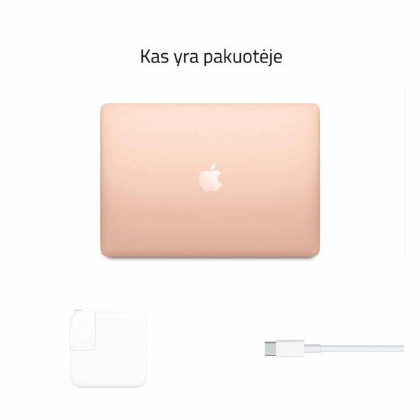 Apple MacBook Air M1 Late 2020 Gold nešiojamas kompiuteris