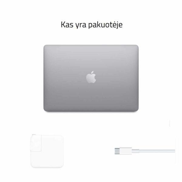 Apple MacBook Air M1 Late 2020 Space Gray nešiojamas kompiuteris pakuotėje