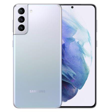 Samsung Galaxy S21 plus 5G fantomo sidabrinė spalva