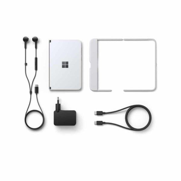 Microsoft Surface Duo sulankstomas įrenginys ir priedai