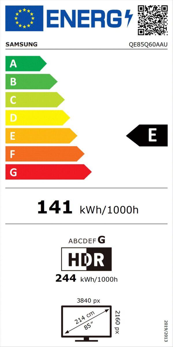 Energijos etiketė QE85Q60AAUXXH