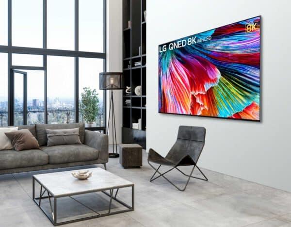 LG QNED993PB QNED 8K televizorius vizualiai